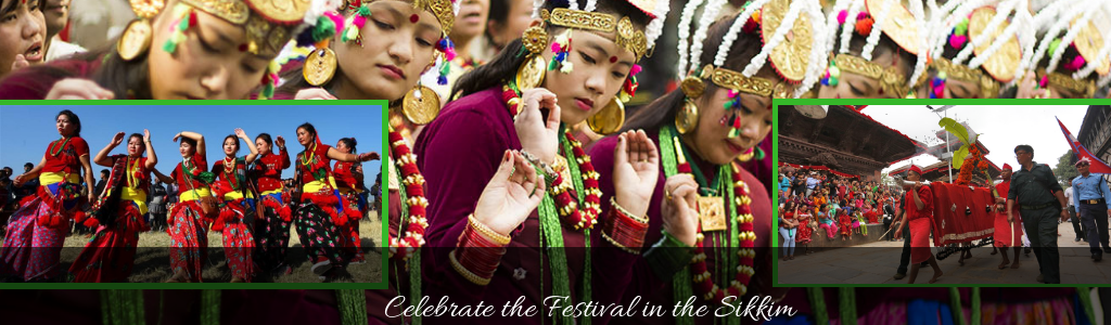 celebrate the festival in the Sikkim